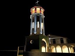 Външен светлинен дизайн църква св. Димитър