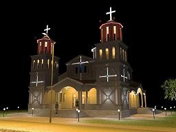 Външен светлинен дизайн църква Св. Преображение Господне