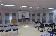 Вътрешен светлинен дизайн лекционна зала